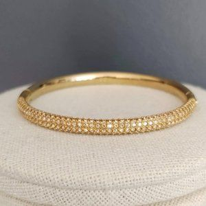 Swarovski mini crystal gold bangle